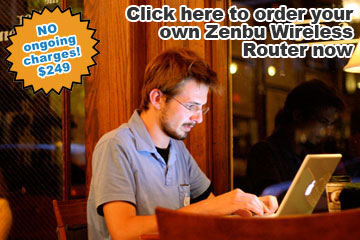 Using the internet wirelessly - Zenbu Wireless makes it easy and affordable. Photo by powerbooktrance